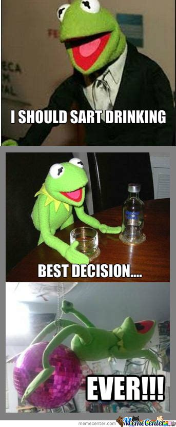Party Animal Meme - kermit the party animal by makes1703 meme center