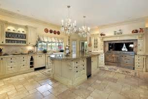 Another classic style kitchen with off white paneled cabinets which