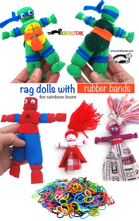 rag doll band krokotak rag dolls with rubber bands without sewing