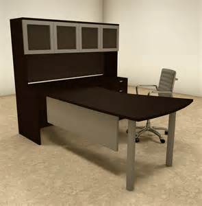 L Shaped Contemporary Desk 4pc L Shaped Modern Contemporary Executive Office Desk Set Of Con L25 H2o Furniture