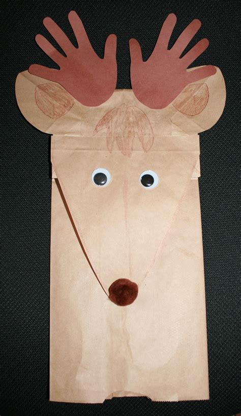 paper bag reindeer pattern 17 best images about lunch bags puppets on pinterest
