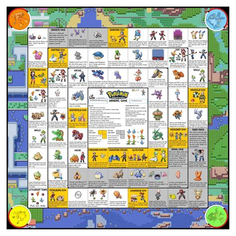 printable drinking board games pokemon drinking game hoenn edition pokemon