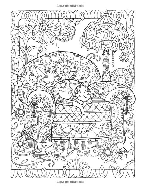 intricate cat coloring pages creative cats coloring book page dover abstract doodle