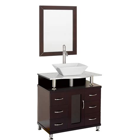 Bathroom Vanities Free Shipping Accara 30 Quot Bathroom Vanity Espresso W White Marble Counter Free Shipping Modern