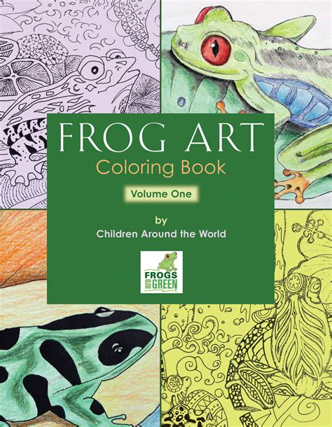 frog picture books coloring books frogs are green