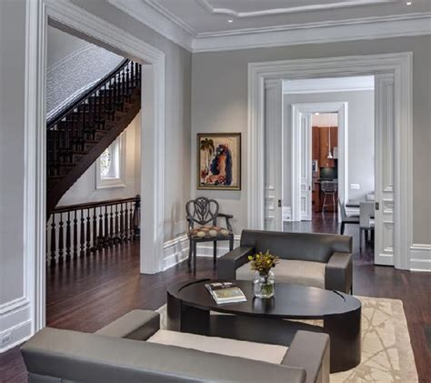 living room colors with white trim gray walls pocket doors and white trim on