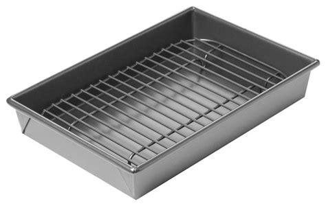 Oven Roasting Rack by Chicago Metallic Roast Pan Set Roasting Pans And Racks By