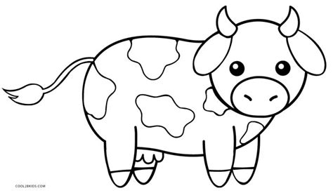 cute animated cow coloring pages
