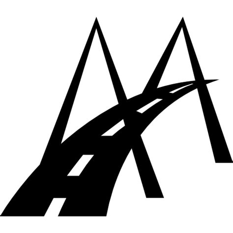 modern bridge road symbol  transport icons