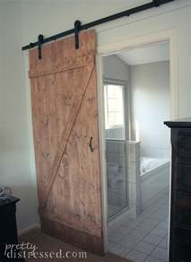 Building Sliding Barn Doors Pretty Distressed Diy Distressed Sliding Barn Door