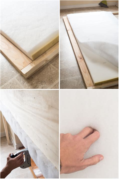 batting for headboard tufted headboard how to make it own your own tutorial