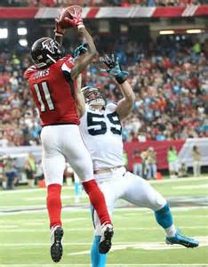 Julio jones catch falcons receiver makes leaping one handed grab