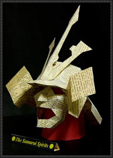 samurai helmet template samurai spirits mask papercraft free template