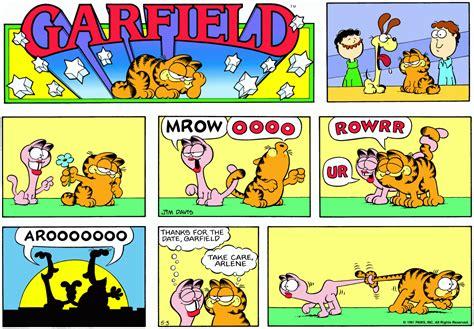 1981 Garfield Odie White Blue garfield mrow oooo rowrr ur arooooooo thanks for the date garfield take care arlene