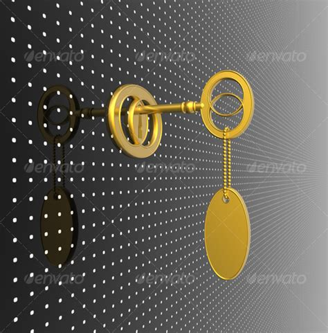 gold key wallpaper golden key with blank tag graphicriver