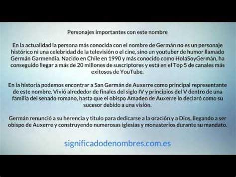 el significado de pattern en español significado del nombre german youtube