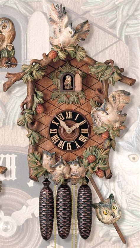 Owl Limited clockway 25in owl limited edition german black forest