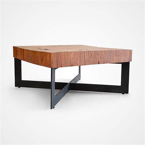 Square Wood And Metal Coffee Table Square Wood Mosaic Coffee Table Metal Base 005 Rotsen Furniture