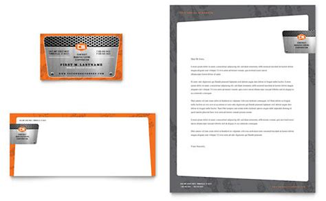 engineering card template manufacturing engineering brochure template design