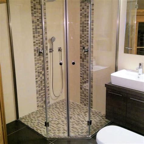duschabtrennung ebenerdig 5 eck duschkabine panther glas ag