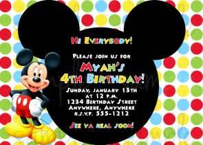 Wedding Invitations Shutterfly Birthday Invitation Mickey Mouse