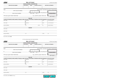 california motor vehicle boat bill of sale form reg 135