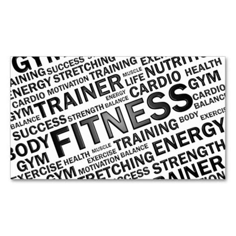 fitness business card template paper