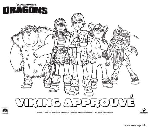 Coloriage Dragons Le Film Viking Groupe Dessin