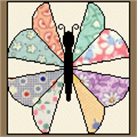 Patchwork Butterfly Pattern - quilt blocks galore 41