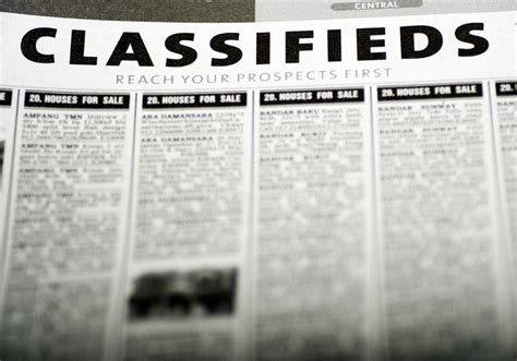 classified section of a newspaper room 106 blog newspaper