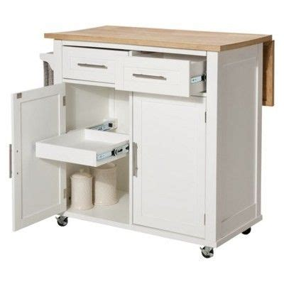 threshold kitchen island white