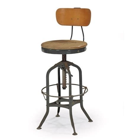 Drafters Stool by Toledo Furniture Quot Uhl Quot Drafting Stool Lot 921