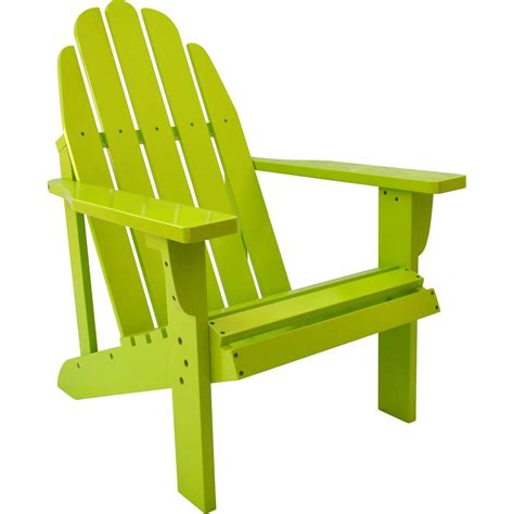 hampton bay unfinished stationary wood outdoor adirondack chair  pack    home depot