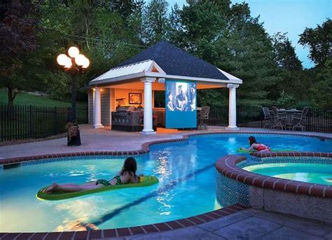 Backyard Pool House by Preparing Your Pool House Renovator Mate
