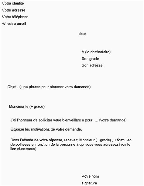 Modèles De Lettre Administrative Letter Of Application Lettre Officielle Mod 232 Le Formule De Politesse