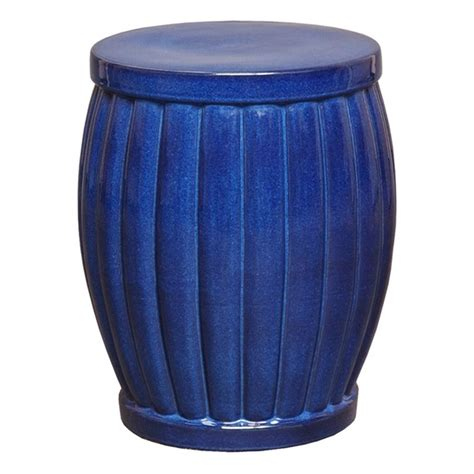 Inexpensive Garden Stools by Large Blue Fluted Ceramic Garden Stool Seven Colonial