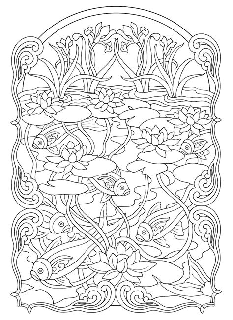 free coloring pages pond animals fish pond animals coloring pages for adults justcolor