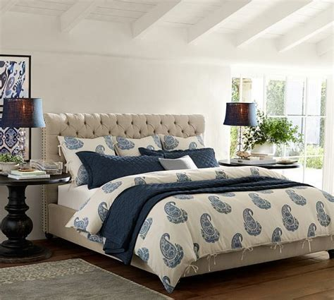 pottery barn chesterfield bed chesterfield upholstered bed headboard pottery barn