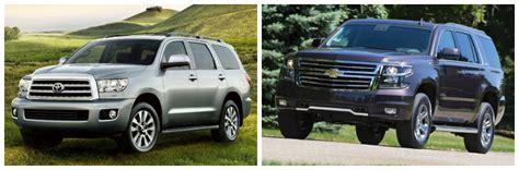 chevy tahoe vs toyota sequoia 2015 sequoia vs tahoe autos post