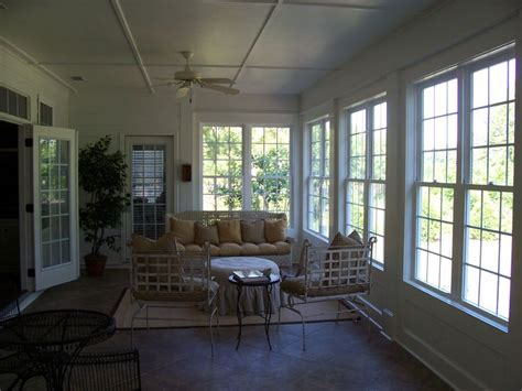 converting a sunroom into a bedroom remodel project screen porch before being converted into