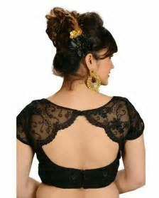 Sheer net lace blouse designs for women bridal wedding sarees