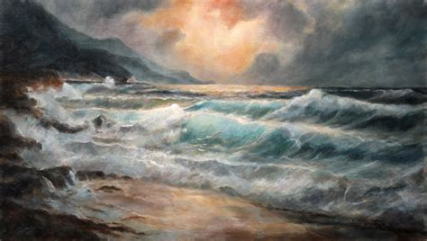 painting images sea and waves seascape oil painting fine arts gallery