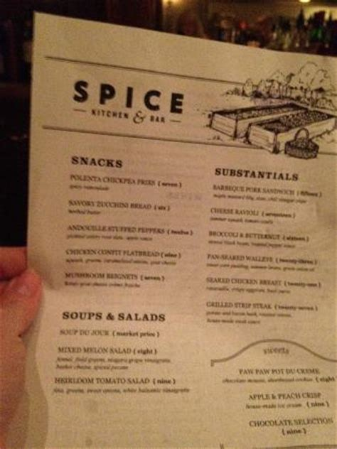 Spice Kitchen Menu by Magda The Bartender Picture Of Spice Kitchen Bar