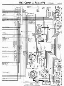 wiring diagrams of 1963 ford comet and falcon 6 all models part 2 circuit wiring diagrams