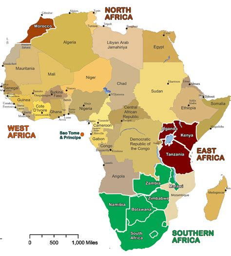 countries of africa map show map of africa with all the countries images