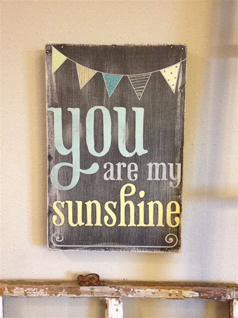 you are my sunshine chalkboard look print by longfellowdesigns you are my sunshine chalkboard look with painted bunting
