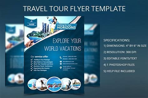 tour flyer template travel tour flyer template flyer templates creative market