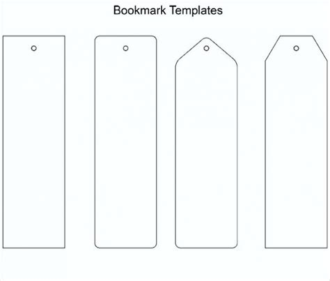 Free Printable Bookmark Template Word Pdf Make Your Own Will Free Template