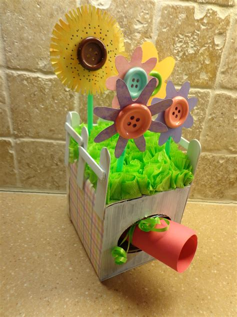 Tissue Paper Box Craft - tissue box craft gift garden