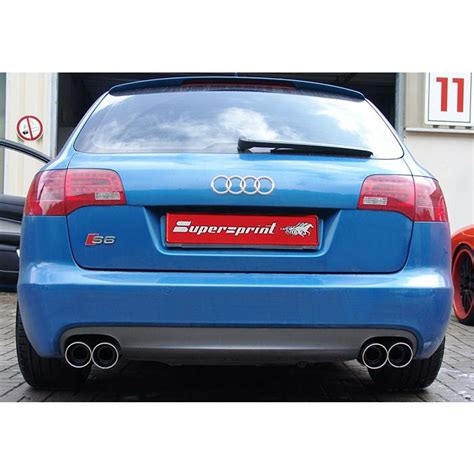 Audi A6 5 2 V10 by Audi A6 C6 Typ 4f S6 Quattro Supersprint Catback Exhaust